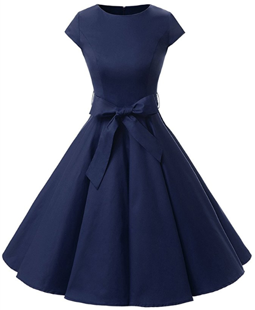 damen rockabilly kleid petticoat partykleid cocktailkleid
